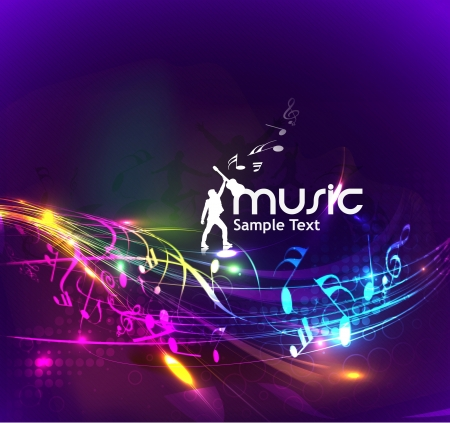 abstract music design for music background use Stock Vector - 14576240
