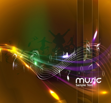 notation: abstract music notes design for music background use