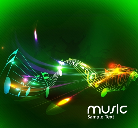 abstract music notes design for music background use Vector