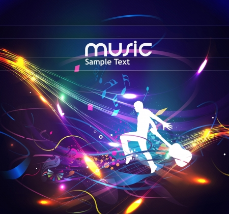 club scene: abstract music design for music background use