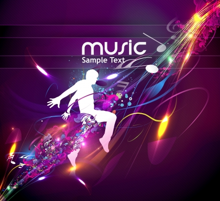 fun festival: abstract music design for music background use