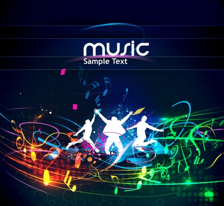 sings: abstract music design for music background use