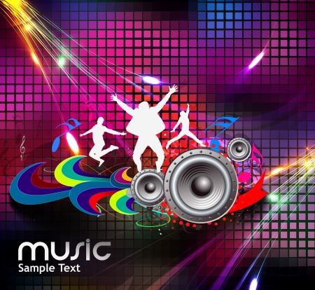 modern  dance: abstract music design for music background use
