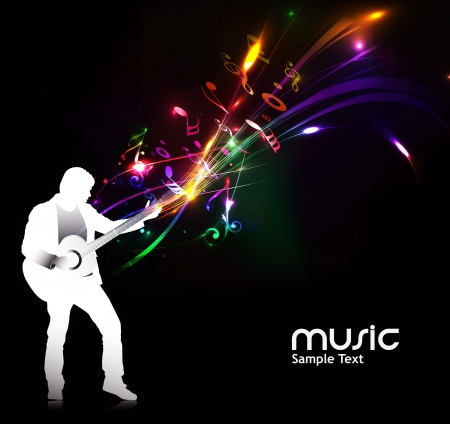 club scene: abstract music notes design for music background use