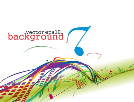 composer: abstract music notes design for music background use