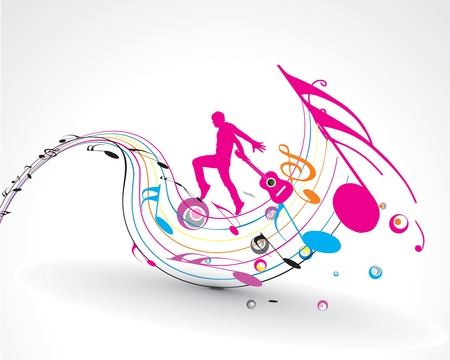disco girls: abstract music notes design for music background use