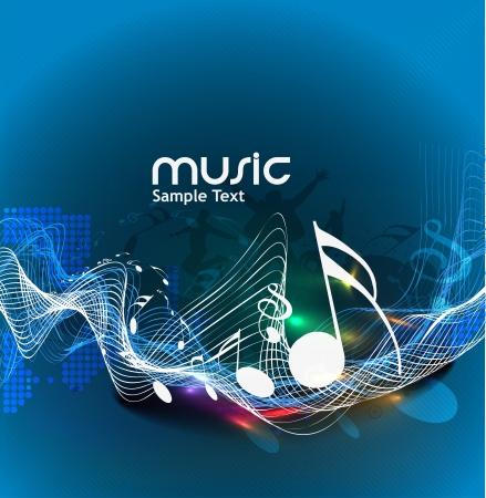 음악 배경 사용에 대 한 추상 음악 노트 디자인