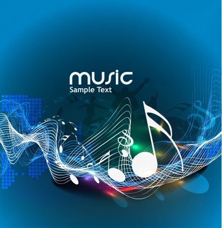 and sound: notas de la m�sica abstracta de dise�o para el uso de m�sica de fondo Vectores