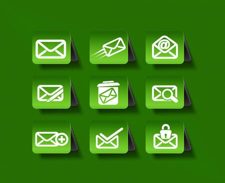 webmail: Set of email icons graphics for web icon collections.