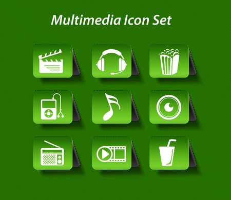 mp3 player: entertainment &amp, music icon set design