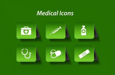 Medical icons and symbols set.  Vector
