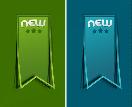 amp: sticker &amp, label for text design. Illustration