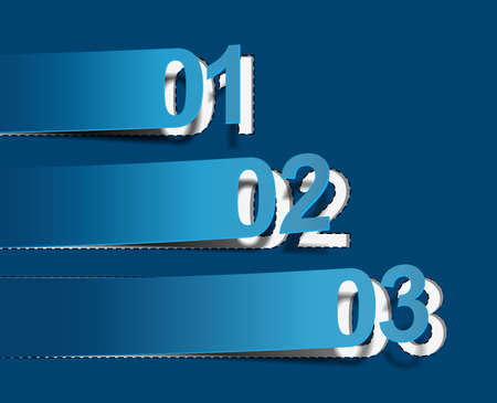 Design of advertisement numbers labels stickers.  Vector