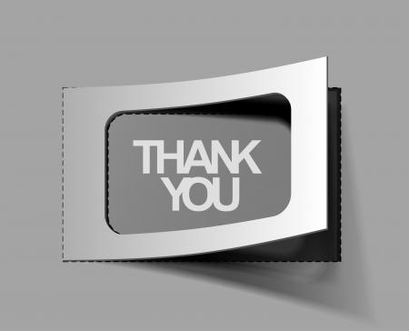 thanks you sticker design. vector illustration.  Vector
