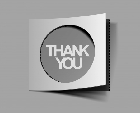 thanks you labels sticker design. Vector