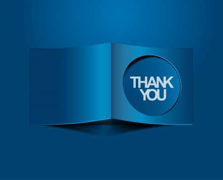 thanks you labels sticker Vector