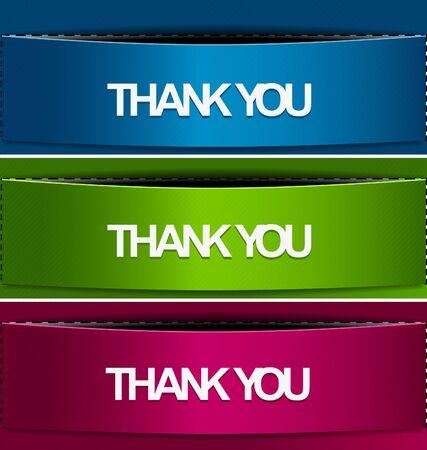 thanks you: Thanks you banner design illustration