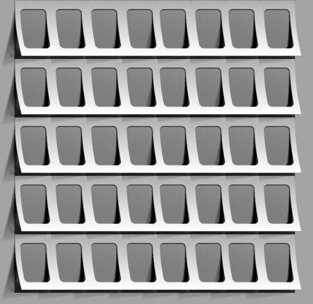 photo frames isolated. Vector