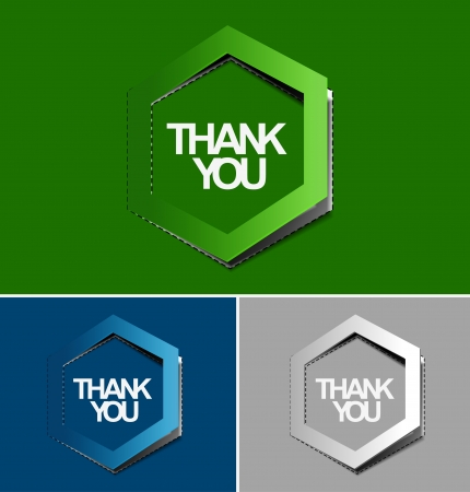 sticker design: thanks you sticker design illustration.  Illustration