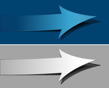 arrow labels design element.
