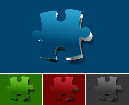 jig saw puzzle: peel off puzzle web icon design element.