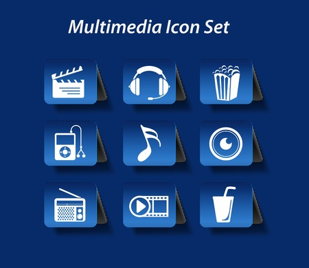 entertainment &amp, music icon set design Vector