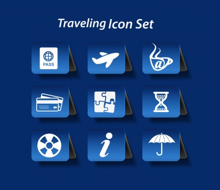Travel web icon set. easy to edit vector image.  Vector