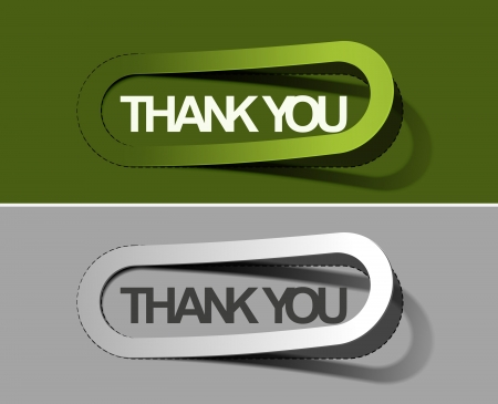 thanks you sticker design illustration.  Vector