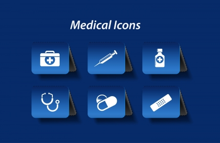 medical record: Medical icons and symbols