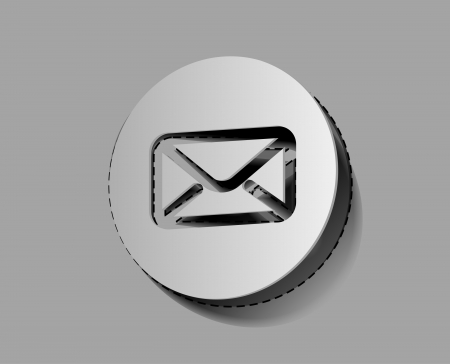 email icon on sticker design.  Stock Vector - 14576325