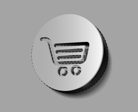Shopping icons/sticker design element.  Vector