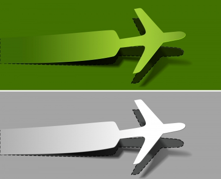 airplane world: label airplanes in flight icons element design.