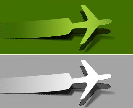 plane ticket: label airplanes in flight icons element design.