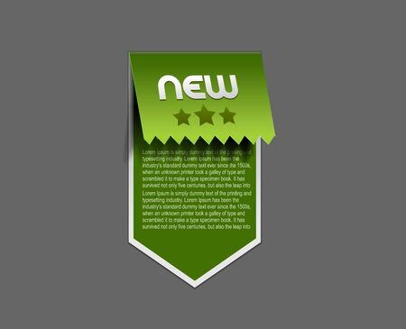 sticker &amp, label for text design. Vector