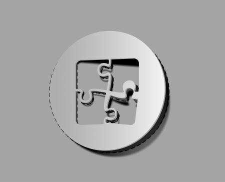 Striker: Ikony puzzle i elementy etykiety  projekt napastnik.