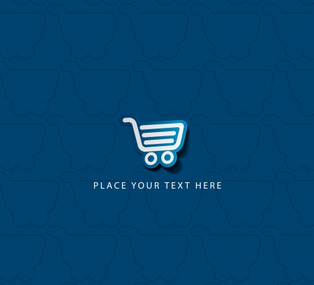 shopping trolley: Vector shopping cart item - buy buttons  Illustration