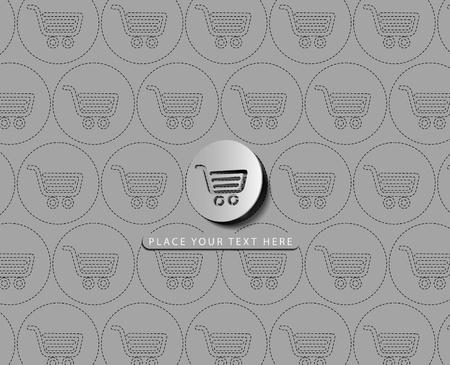 Vector shopping cart item - buy buttons  Vector
