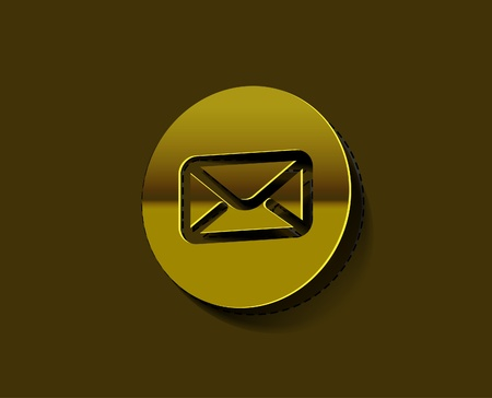vector email icon label web design element.  Vector