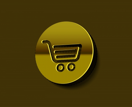 Vector shopping cart item - buy label design.  Vector