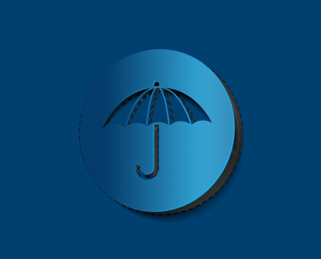 Vector Umbrella icon labels design.  Stock Vector - 14783973