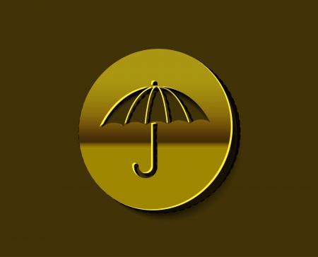 Vector Umbrella icon labels design.  Stock Vector - 14783975