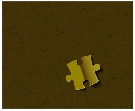 vector glossy puzzle web golden label design element.  Vector