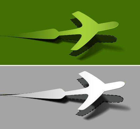 divert: label for airplane advertising stickers vector design illustration.  Illustration