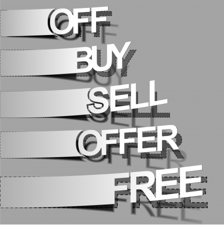 sell off: Best summer offers for sale stickers design element.