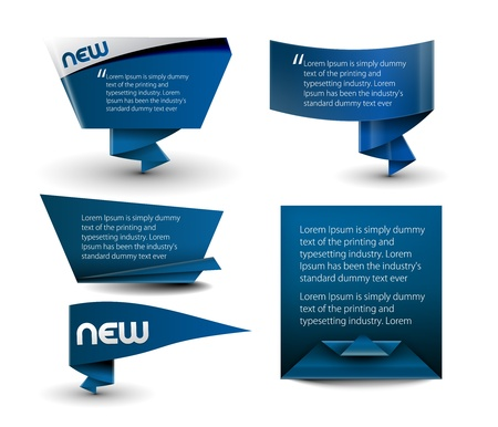 Five different web style banner elements design.  Vector