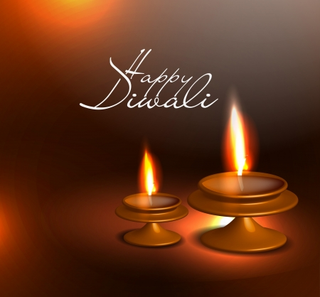 3d diya design for diwali festival.  Vector
