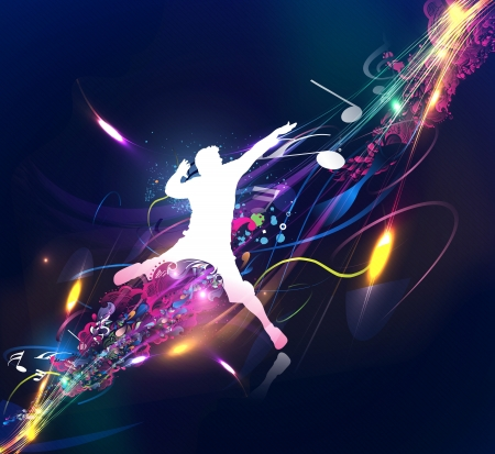 club scene: Abstract music dance background for music event design. illustration.