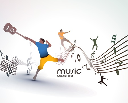 music event: Abstract music dance background for music event design. illustration.