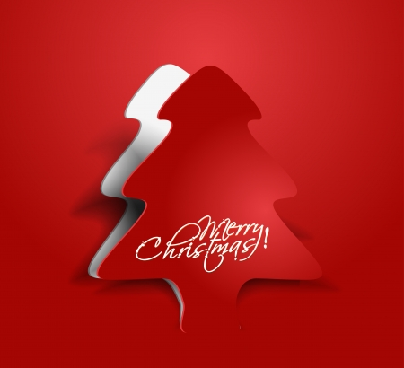 christmas trees: abstract red background for new year and for Christmas tree design for text project used.  Illustration