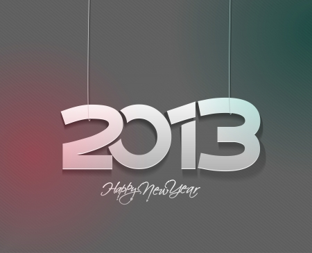 new year 2013 design  element. Stock Vector - 16107844